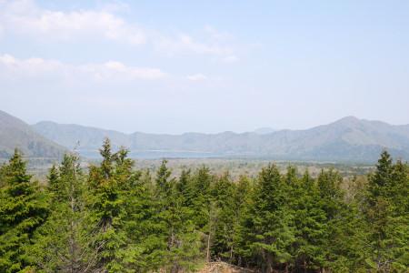 大室山西展望台からの眺め