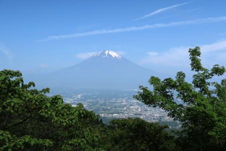 長尾峠途中からの富士山