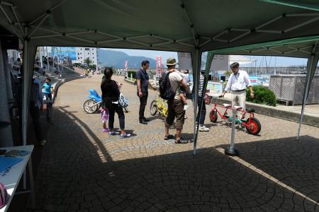 おもしろ自転車イベント会場