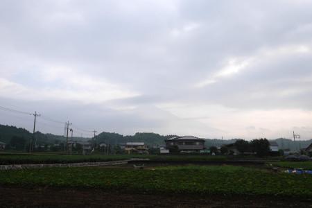 かろうじて見えた富士山