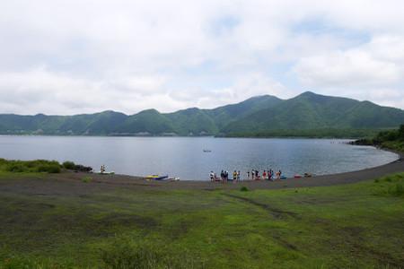 本栖湖の光景