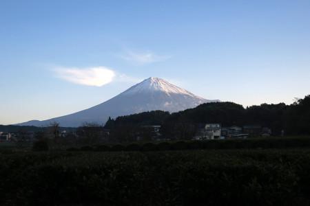 自宅そばの富士山