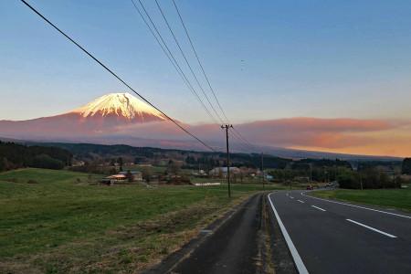 朝霧高原の夕景