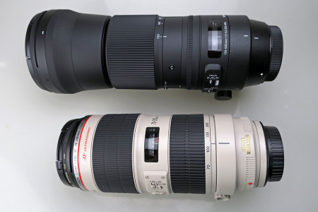 EF-70-200mm F2.8L IS Ⅱ USMと比較