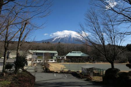 人穴小学校前からの富士山
