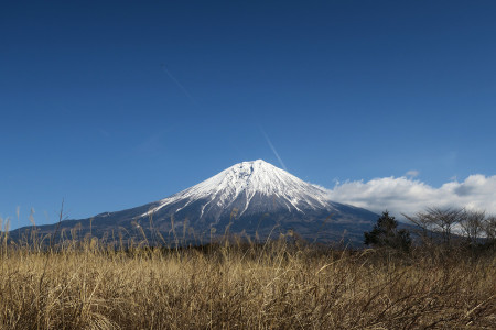 風の湯前からの富士山