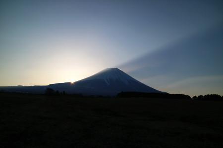 朝霧高原富士山からの日の出