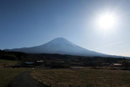県道71号からの富士山