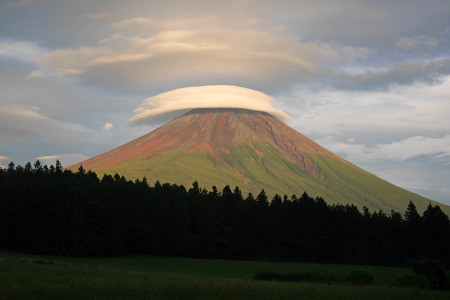 あさぎりフードパークからの富士山
