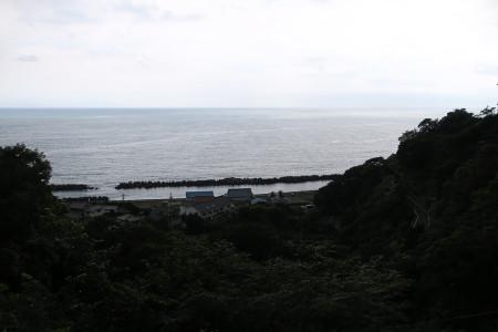 大崩海岸の眺め