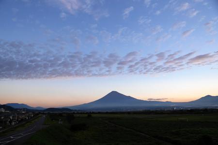 10月18日朝の富士山