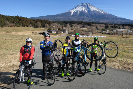 富士山絶景ポイントにて