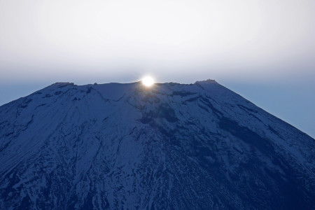 10月25日あさぎりフードパークからのダイヤモンド富士